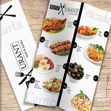 Menús cartas de Restaurantes